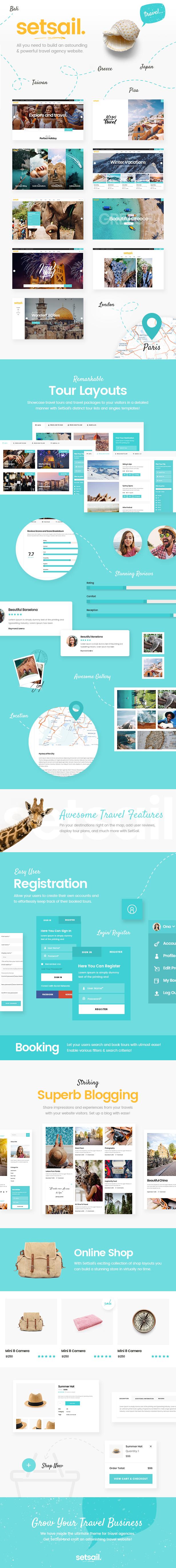 SetSail - Tema de agencia de viajes - 1
